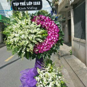 lẵng hoa đám tang nhà tang lễ