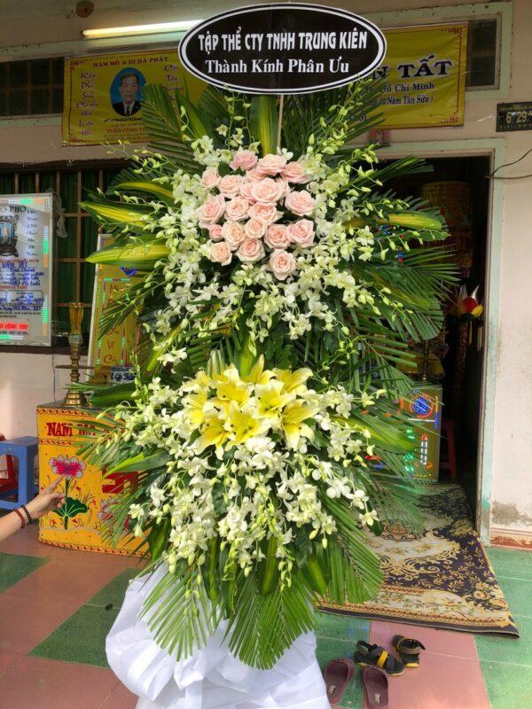 hoa đám tang long phú