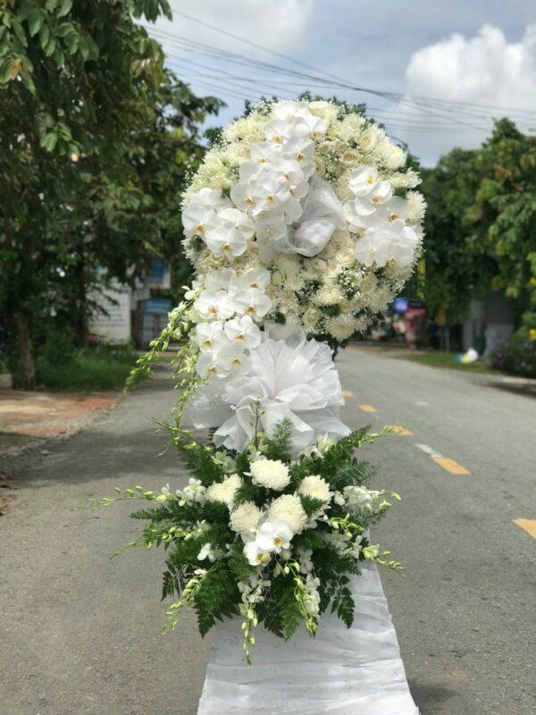 hoa đám tang chùa vĩnh nghiêm